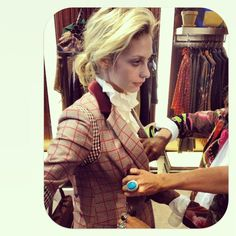 """c/o @Cory Kennedy - """"Getting fitted for @tommyhilfiger which is always my favorite- I will be riding horseback to the show, just an FYI"""" Tommy Hilfiger Spring 2013 Womenswear Collection #TOMMYSP13 #NYFW #Spring2013 #newyorkfashionweek"""
