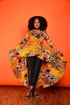 45 Fashionable African Dresses Discover the hottest ankara African dresses you need this season. Everything from peplum, bubble sleeves, and flare to mixed African print. This season's hottest styles & where to get them are in one convenient post. African Dresses For Women, African Print Fashion, African Attire, African Wear, African Fashion Dresses, African Women, African Prints, African Clothes, Ghanaian Fashion