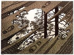 Puddle - M.C. Escher - This one is one of my very favourites.