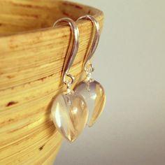 Spike earrings clear quartz earrings stone earrings by AinaKai, $52.00