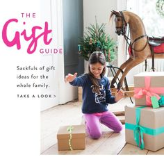 The gift guide. Sackfuls of gift ideas for the whole family. Take a look.