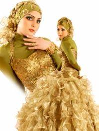 صور فساتين زفاف محجبات جديده آخر موضة 2015