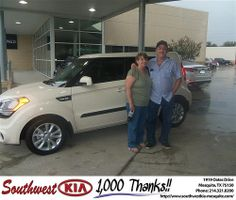 Happy Anniversary to Richard Johnson on your 2013 Kia Soul from Michael Stanton and everyone at Southwest Kia Mesquite!