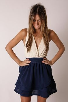 PRE ORDER arrives 15th november far away cocktail dress- blue/creme
