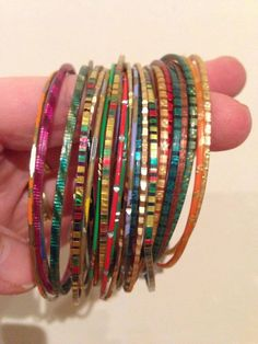 Dolly bangles / indian bangles in the 1970s.