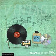 Olde Timey Music by Jason Kotecki. Weird World, Mixtape, Comic Art, Singing, Music Instruments, Illustrations, Songs, Retro, Projects