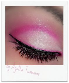 I love the line of pink right above the eyeliner