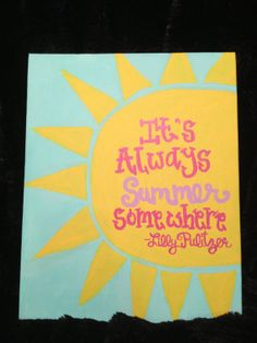 Lily Pullitzer Quote Canvas by changriffin22 on Etsy, $15.00