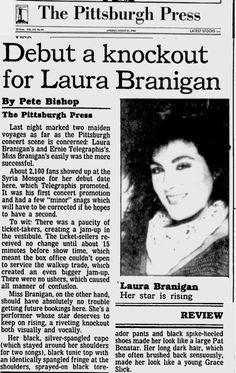 """Laura Branigan 1984, """"Debut a knockout"""". Read more here..  https://news.google.com/newspapers?id=5hgeAAAAIBAJ&sjid=FWIEAAAAIBAJ&pg=7147%2C9547137"""