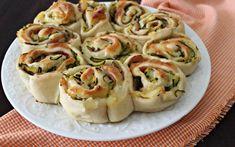 Torta di rose con zucchine