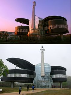Piano House by Huainan Fangkai Decoration Project Co. This is truly amazing; a violin and piano combined to make up a fully functional and elegantly designed building. A must-see for any music lovers who happen to be in Huainan, China. - 20 Outstanding Architectural Designs From All Over the Globe