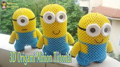 HOW TO MAKE 3D ORIGAMI MINION | DIY PAPER MINION TOY TUTORIALS