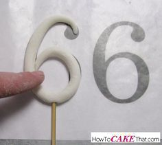 Oneedible decoration every cake decorator needs to know how to make is a gum paste or fondant stand up number topper! Number toppers are one of my most requested edible decoration pieces for...