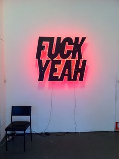 Fuck Yeah neon light up sign. Disco Licht, Teen Witch, All Of The Lights, Typography, Lettering, Luz Led, Grafik Design, Neon Lighting, Signage