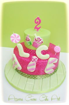Summer birthday cake - Cake by Azzurra Cuomo Cake Art