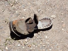 Another super old shoe...last seen in the dust of Bodie, USA