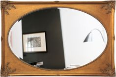 Espelho Decorativo Clássico Oval Dourado Envelhecido - Decore Pronto