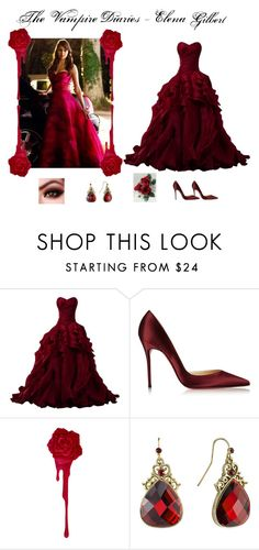 """""""The Vampire Diaries: Elena Gilbert Prom Outfit"""" by billsacred ❤ liked on Polyvore featuring Christian Louboutin and 1928"""