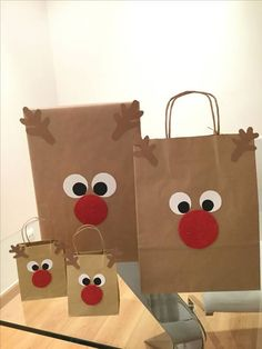 New diy christmas candy crafts ideas Christmas Candy Crafts, Easy Diy Christmas Gifts, Christmas Gift Bags, Christmas Gift Wrapping, Kids Christmas, Christmas Decorations, Christmas Presents, Merry Christmas, Custom Paper Bags