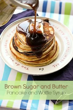 Brown Sugar and Butter Pancake and Waffle Syrup foodiewithfamily.com