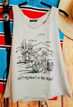 COWGIRL gYPSY CACTUS I left my heart in the Desert Tank Top Shirt Western MEDIUM   Clothing, Shoes & Accessories, Women's Clothing, Tops & Blouses   eBay!
