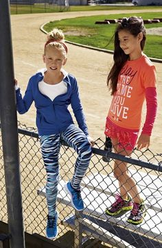 Zella Jacket, Tunic & Pants and Under Armour Tees & Skirt (Little Girls & Big Girls)  available at #Nordstrom