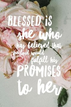 iphone scripture wallpaper// blessed is she who believed