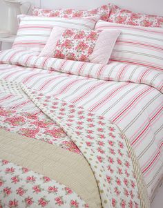 Brighton Ticking Duvet Cover and coordinating linens by Roome Works