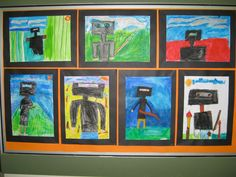 Sidney Nolan, the Ned Kelly series in oil pastels.  K . Wickham.  Primary level.