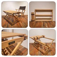 Cross table オールウッドで組み上げたロールトップテーブル。 軽くて持ち運びもし易く、よりコンパクトに収納可能なテーブル。 タモ無垢組 WATCO仕上げ Size:W930 D490 H470 Price:¥38,000(+TAX)