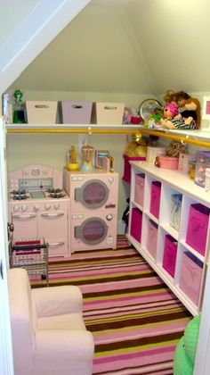 Convert kid's Closet to a playroom with a few simple changes.
