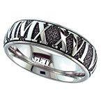 Geti Inverted Roman Numeral Titanium Ring