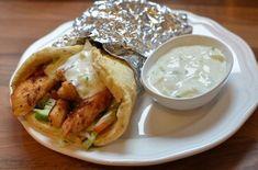 Sunn kyllingkebab med lavkalori-pitabrød (Bakekona)