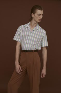 The Swedish brand's latest collection spins focus on lilac, mint green, faded yellow and dusty pink hues in sharply outlined silhouettes. Suit Fashion, Boho Fashion, Mens Fashion, Lolita Fashion, Retro Fashion, Fall Fashion, Fashion Shoes, Fashion Dresses, Topman Shorts