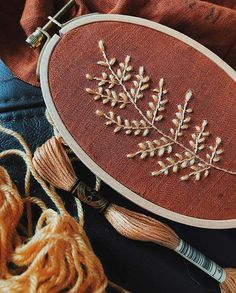 No photo description available. Hand Embroidery Stitches, Modern Embroidery, Embroidery Hoop Art, Hand Stitching, Embroidery Patterns, Chocolate Color, Needlepoint, Delicate, Pure Products