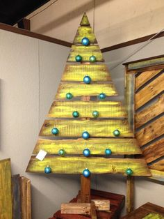 árbol de navidad de palets