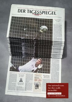 Newspaper Stack | Distorted Faces Newspaper Stack Poster Campaign | Award-winning Press Advertising Campaigns (Local) | D&AD