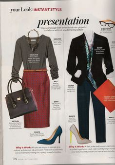 "InStyle Magazine - September 2012: ""Presentation"""