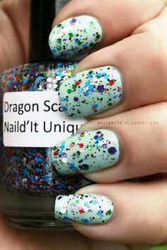 Naild'It Dragon Scales #beauty #nailpolish #glitter