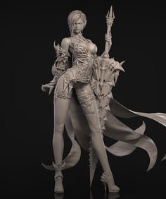 This is the first time we have published our student work on the zbrush forum, thanks to powerful zbrush. Female Character Inspiration, Female Character Design, Character Concept, Concept Art, Fantasy Warrior, Fantasy Art, Thor, Art Station, Cg Art