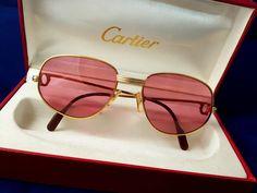 81d6d5e1df CARTIER Romance Gold Mint Condition Vintage Sunglasses