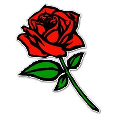 Red Rose car bumper sticker window decal 5 x 3 >>> You can find out more details at the link of the image.Note:It is affiliate link to Amazon.