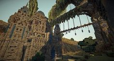 Fantasy Islands with Abandoned Castle and Steampunk Village Minecraft Project