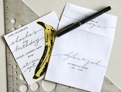 The Party Planning Guide   Anne Robin Calligraphy is degined by their unique, modern designs