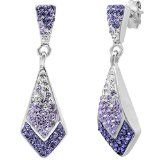 SAVE $100 - Purple Crystal Ombre Earrings - JUST $49.99!