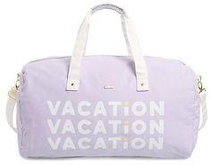 BAN.DO ban.do 'Vacation Vacation Vacation' Canvas Duffel - Purple #vacation #luggage #bag