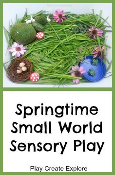 Play Create Explore: Springtime Small World Sensory Play