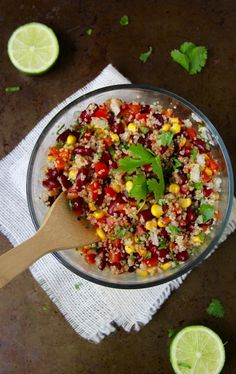 Quinoa Bean Salad- Emma's Little Kitchen