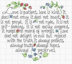 el Amor es (cita bíblica)