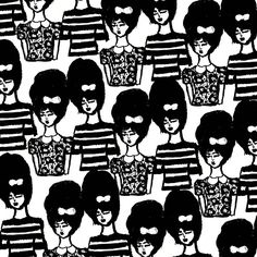 Bouffant Girls Pattern.